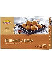 Nanak Besan Ladoo 500g 17.6oz Indian Delicacy Sweets Gift Box for Diwali, Eid, Navratri, Holi, Rakhi