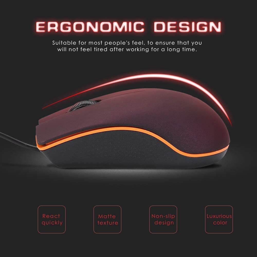 Color : Purple HNSYDS Mini M20 Wired Mouse 1200DPI Optical USB 2.0 Pro Gaming Mouse Optical Mouse Scrub Surface for Computer PC Laptop Mouse