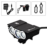 Best Bicycle Lights 5000 Lumens Rechargeables - HKBAYI X3 3 Modes 5000Lumen 3 LED Bicycle Review