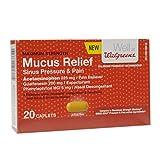 Walgreens Mucus Relief Sinus Pressure & Pain Caplets 20 ea