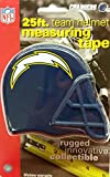 DuraPRO NFL San Diego Chargers 25 Foot Team Helmet Measuring Tape, NEW