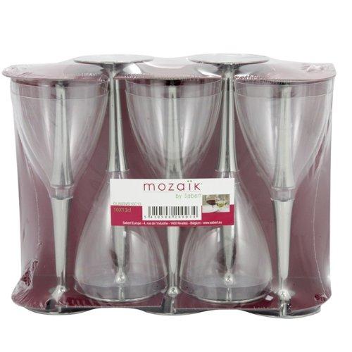 100 Sabert copas de plástico desechables con cierre de plata Potencia