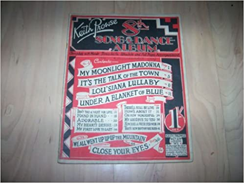 Keith Prowse 8th Song and Dance Album (Sheet Music