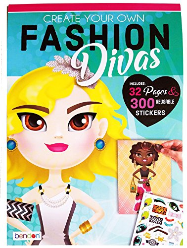 (Create Your Own Fashion Divas Children's Sticker)