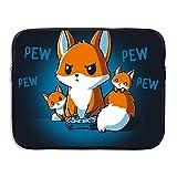Cute Fox Laptop Sleeve Egiant Waterproof Protective Fabric Notebook Bag Case 15 Inch