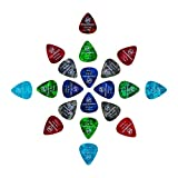 CLOUDMUSIC Guitar Picks Variety Pack 20pcs For Acoustic Guitar Classical Guitar Ukulele