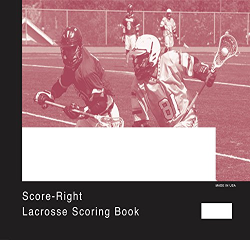 Score-Right Men's Lacrosse 31 Games Scorebook, 12'' x 12 1/2'' by Score Right
