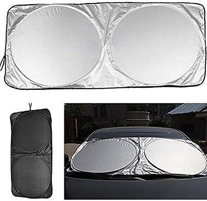 Jumbo Folding Front Rear Car Window Sun Shade Auto Visor Windshield Block Cover