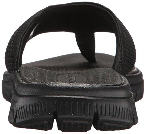 Skechers Sport Hommes Flex Avantage S Crommelin Flip-flop, Noir