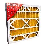20x20x4 MERV 11 ( MPR 1000 ) AC Furnace 4'' Inch Air Filters. Qty 2.  Actual Size:19-1/2'' x 19-1/2'' x 3-3/4''