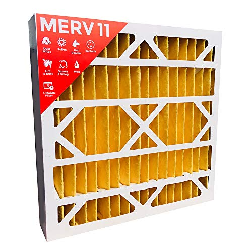 20x20x4 MERV 11 ( MPR 1000 ) AC Furnace 4'' Inch Air Filters. Qty 2.  Actual Size:19-1/2'' x 19-1/2'' x 3-3/4'' by Filters Delivered