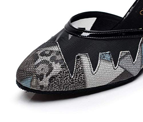 5cm Pour Salsa Femmes Dheeled5 Sandales De uk4 Latine 5cm Cheeled5 Talons Danse Willsego tango Hauts Modernes Chaussures chaussures Jazz Thé Eu35 samba Our36 qXwFtcT