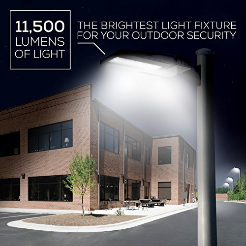 Hyperikon LED Shoebox Pole Light, 100W (300W Eq.), 5700K