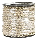 "Campbell 0712517 Hobby and Craft Twist Chain, Brass Plated, #250 Trade, 0.099"" Diameter, 25 lbs Load Capacity, 33 Feet Mini Reel"