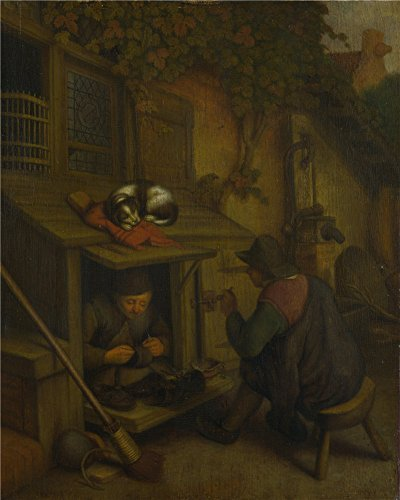 Oil Painting 'After Adriaen Van Ostade - A Cobbler,about 1680 - About 1720', 24 x 30 inch / 61 x 76 cm , on High Definition HD canvas prints, Dining Room, Kitchen And Powder Room Decoration, small