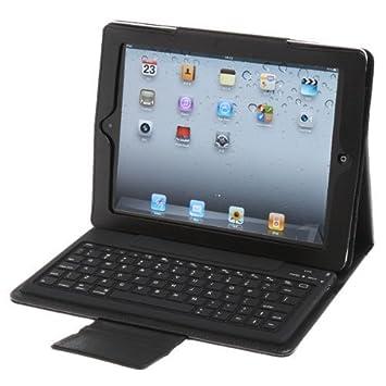 Protectora de casos para iPad iPad2 piel negro con teclado Bluetooth: Amazon.es: Electrónica
