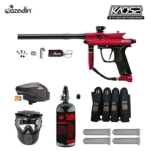 MAddog Azodin Kaos 2 Expert Paintball Gun Package - Red/Black Halo 2 Paintball