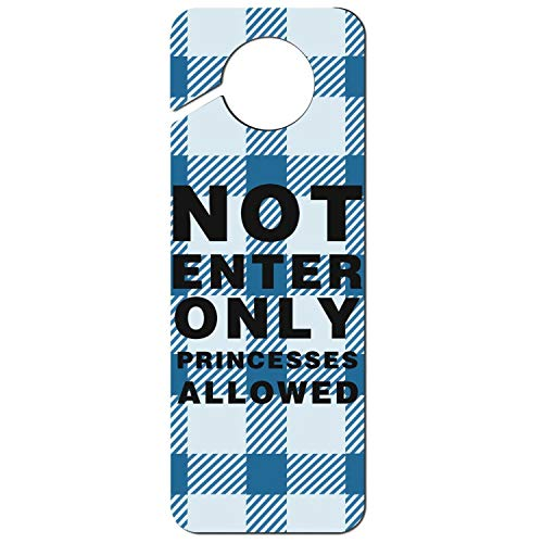 Uxipec937 Funny Offices Hotels Bedroom Door-Hanger Not Enter Only Princesses Allowed Door Knob Hanger Sign Suitable for Massage Clinics Spa and Other Special Situation