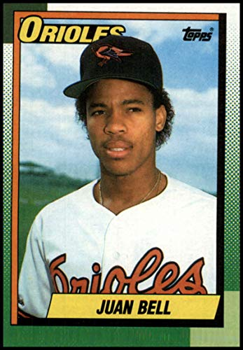 (1990 Topps Baseball #724 Juan Bell Baltimore Orioles Official MLB Trading Card (stock photos used) Near Mint or better condition)