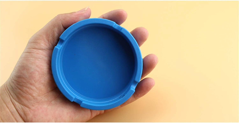 Baiyouli Posacenere da Tavolo in Silicone Moderno posacenere in plastica per Uso Interno o Esterno Portacenere Antivento Impermeabile 1Pc