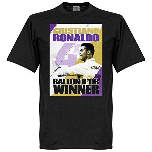 Ronaldo 4 Times Balon D?Or Winners Madrid T-shirt - schwarz