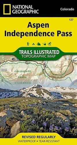 Aspen, Independence Pass (National Geographic Trails Illustrated - Aspen Shopping Guide