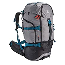 Backpack Rucksack Hiking Camping Outdoor Water Repellent Quechua Forclaz 50L (Light Grey)