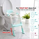 711TEK Potty Training Seat Toddler Toilet Seat with Step Stool Ladder,Potty Training Toilet for Kids Boys Girls Toddlers-Comfortable Safe Potty Seat Potty Chair with Anti-Slip Pads Ladder