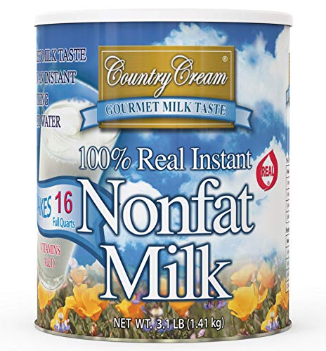 Country Cream 100% Real Instant Nonfat Powdered Milk 49.6 OZ