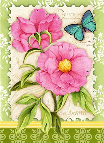 Peonies & Butterflies Spring Garden Flag Floral Decorative Mini 12.5
