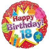 Happy 18th Birthday ~ Edible Image Cake Topper