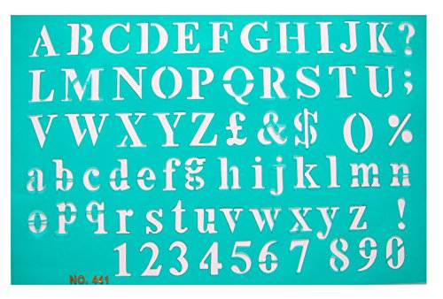The Master Template Block Alphabet Stencil Set