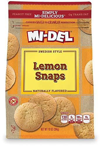 MI-DEL Classic Lemon Snap Cookies 10 oz (8 Pack) by Mi-Del