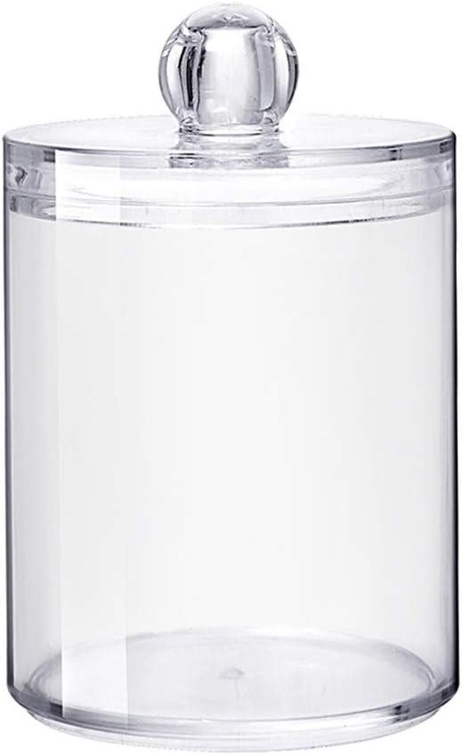 Fansi - 1 caja cilíndrica de plástico y algodón, caja de ...