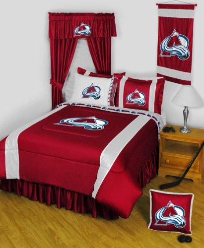 NHL Colorado Avalanche Comforter Set 3 Pc Queen Hockey Bedding Avalanche Comforter