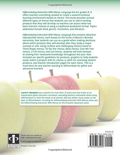 Workbook differentiated instruction worksheets : Amazon.com: Differentiating Instruction with Menus: Language Arts ...