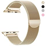 yamen Compatible for Apple Watch Band 42mm 44mm Milanese Loop for iwatch Band Series 2 Series 3 Series 4 Gold