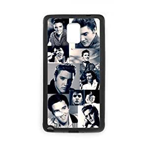 FEEL.Q- Movie Star Rock Singer Elvis Presley Protective Samsung Galaxy Note 4 Rubber Phone Case Cover
