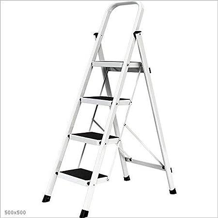 Escaleras De Elevación, Escalera De 4 Peldaños, Acero De Alta Resistencia, Plegable, Portátil con Alfombrilla Antideslizante Máx.: Amazon.es: Hogar