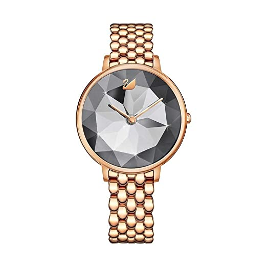 139f1a8a947e Swarovski Ladies Crystal Lake Rose Gold Plated Grey Watch 5416023   Amazon.co.uk  Watches