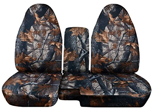 Fits 1991-1997 Ford Ranger/Explorer Mazda Navajo/B-Series Camo Truck/SUV Seat Covers (60/40 Split Bench) w Center Console/Armrest Cover: Gray Real Tree Camouflage (16 Prints) 1992 1993 1994 1995 (Mazda Navajo Suv)