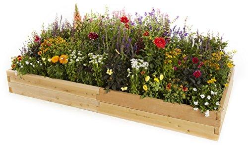 Naturalyards Raised Garden Bed (Rustic Cedar, 3'x6'x11'') by Naturalyards