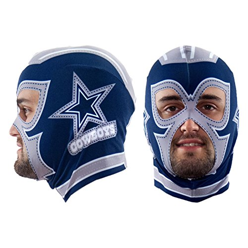 Littlearth NFL Dallas Cowboys Fan Mask, Blue, One Size -
