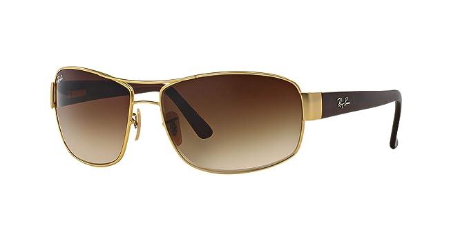 98f9843f848953 Ray-Ban RB3503L Non-Polarized Sunglasses, Matte Gold   Brown Gradient Dark  Brown