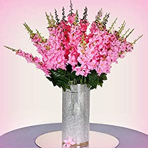 Inna-Wholesale Art Crafts New 18 to 27 Pink Delphinium Stems Filler Silk Decorating Flowers Bouquet Centerpieces - Perfect for Any Wedding, Special Occasion or Home Office D?cor 51
