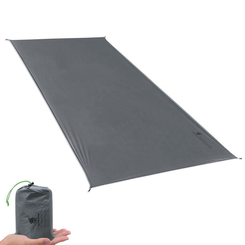 Geertop 1-4 Person Ultralight Waterproof Tent Tarp Footprint Ground Sheet Mat, Grey, 4'7'' x 6'11''