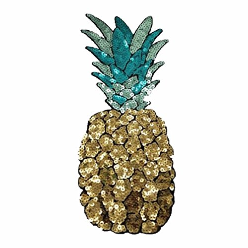 Big Applique Pineapple Patches For Clothing Accessories ()