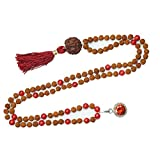 Necklace Mala Beads 108 Japamala Yoga Necklace coral Tibet Buddhist Prayer Malabeads