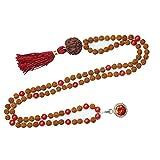 Necklace Mala Beads 108 Japamala Yoga Necklace coral Tibet Buddhist Prayer Malabeads