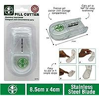 1st Care Pill Tablet Splitter Crusher Cutter Holder Medicine Box